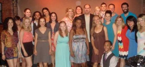 Me and the awesome cast and crew of Broadway Meows this past summer!