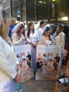 There were 50 of us dressed as brides and we stormed Times Square and took a lot of people by surprise.