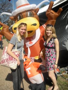 Jane and I circa 2009 having a blast in Austin with the Longhorns!