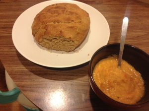 Being able to make a soup is a good one for the list though..here I've made some split pea soup to go with the bread.