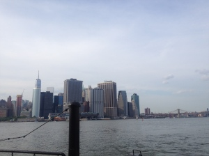 Ferry off the coast of downtown Manhattan.
